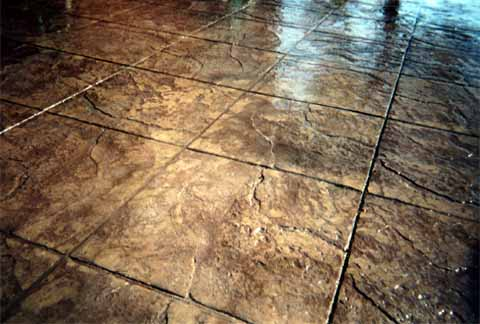 Stamped Concrete Stained Concrete